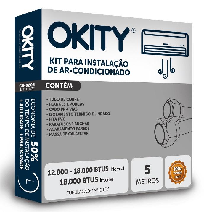 KIT DE INSTALAÇÃO SPLIT 12.000 A 18.000 - 05 METROS OKITY