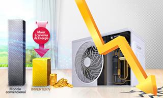 Economia de Energia Ar Condicionado Split Hi Wall LG 3M