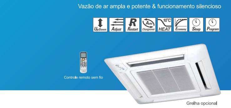 Evaporadora Split Cassete Compacto Fujitsu