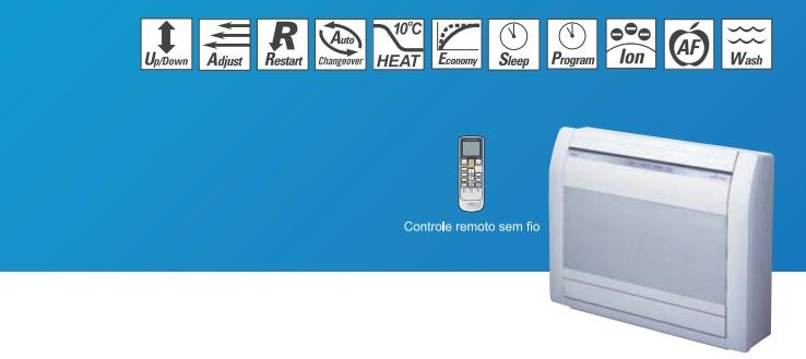 Evaporadora Split Piso Fujitsu